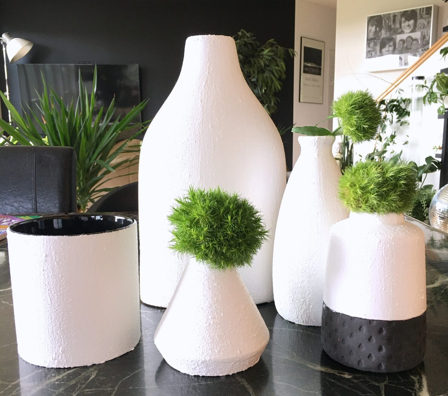 DIY: How to Make Any Vase Look Like Ceramic With Paint and ...